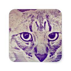 Tabby Cat Sticker http://www.damenroy.com /// http://www.youtube.com/damenroy