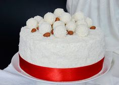Citromhab: Raffaello torta - Segítsüti 2015 Cake Cookies, Cupcake Cakes, Cupcakes, Cold Desserts, Vanilla Cake, Oreo, Cake Decorating, Deserts, Food And Drink