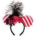 Feathered Minnie Mouse Headband with Silk Rosette | Ear Hats & ''Mickey Mitts'' | Disney Parks Authentic | Disney Store