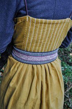 Maena Craft:  Juliet wearing one of my weaving belt on her wonderful viking dress!