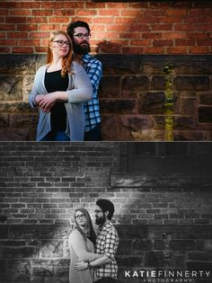 High Falls Rochester Engagement Session photographed by Katie Finnerty Photography | http://www.katiefinnertyphotography.com/blog/2016.5.3.high-falls-rochester-engagement-session-lauren-nick