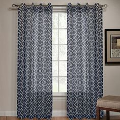 Kohls navy Patras Sheer Curtains - 52'' x 84'' Buy one get one half off online only