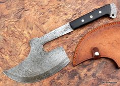 Damascus Knife Custom Handmade - 16.00 Inches Goose wing Axe - Micarta Handle #Handmade
