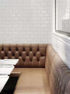 Cognac colored sofa