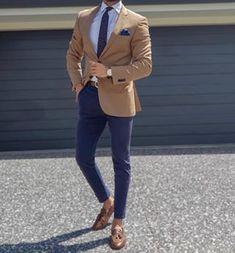 Blazer Outfits Men, Mens Fashion Blazer, Stylish Mens Outfits, Suit Fashion, Stylish Mens Clothing, Daily Fashion, Blue Blazer Outfit Men, Gentleman Fashion, Men Blazer