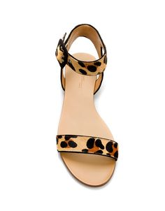 animal print sandal flat - ZARA México