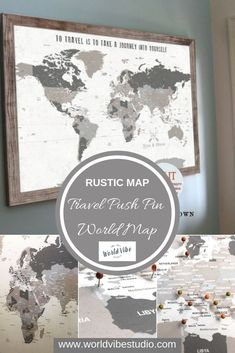 Pin All Your Vacations On This Clever And Classy World ; pin alle ihre ferien auf dieser klugen und noblen welt Pin All Your Vacations On This Clever And Classy World ; World Map Pin Board, World Map With Pins, Push Pin World Map, Framed World Map, World Map Wall Art, Wall Maps, Travel Map Pins, Travel Maps, Bali Travel