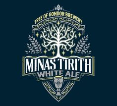 Minas Tirith White Ale T-Shirt - LOTR T-Shirt is $11 today at TeeFury!