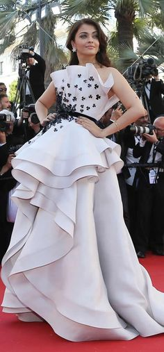 Aishwarya Rai Bachchan is divine in #Cannes in Statement Gown