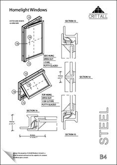 Repair your existing crittall windows and doors details for Section window design