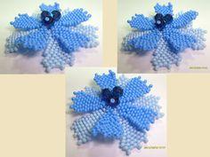 Cornflower Bead-tutorial  - petal schema  ~ Seed Bead Tutorials
