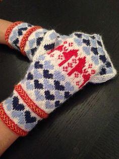 **Sport Needles Free Pattern** I mina vantar använde jag följande: Fair Isle Knitting, Knitting Socks, Hand Knitting, Knitting Patterns, Crochet Mittens, Mittens Pattern, Knit Or Crochet, Wrist Warmers, Hand Warmers