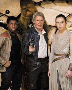 Instagram photo by Vintage Star Wars - Finn, Han, Chewie, Rey.