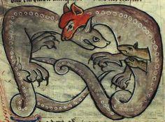 Гадюка- змея, которую невозможно зачаровать музыкой, так как она прижимается одним ухом к земле, а другое затыкает кончиком хвоста. В голове имеет драгоценный камень карбункул. Самка беременеет, когда самец засовывает ей свою голову в рот. Она ее откусывает и проглатывает. Созрев, детеныш гадюки прогрызает чрево матери и выбирается наружу, тем самым убив ее. Укус гадюки очень ядовит — от него человек потеет кровью и вскоре умирает.