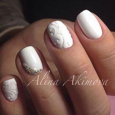 White Wedding Nail Art