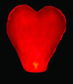 Wow! Tym lampionem na pewno będą zachwyceni wszyscy zakochani.