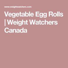 Vegetable Egg Rolls   Weight Watchers Canada