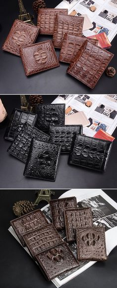 Mens Crocodile Wallet, Mens Alligator Wallet