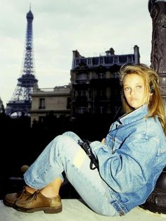 Vanessa Paradis - Vintage denim on denim inspiration