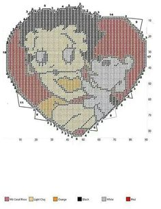 BETTY BOOP & PUDGY IN A HEART -- WALL HANGING
