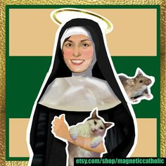 St Gertrude of Nivelles patron saint of Cats and against fear of mice paper doll set Patron Saint Of Cats, Doll Set, Patron Saints, Godly Woman, Print And Cut, Mice, Paper Dolls, Gardening, Mavis