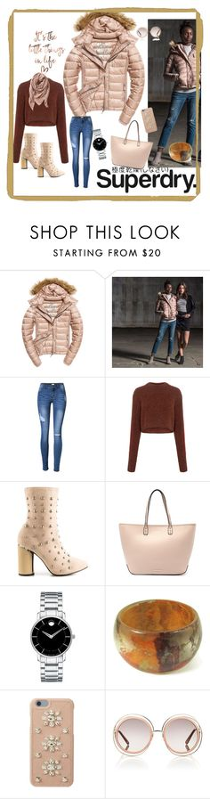 """""""The Cover Up – Jackets by Superdry: Contest Entry"""" by scarlet87 ❤ liked on Polyvore featuring Superdry, Fuji, TIBI, Cape Robbin, Tony Bianco, Movado, MICHAEL Michael Kors, Chloé and TravelSmith"""
