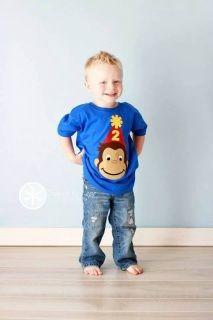 Curious George Birthday Shirt {www.ffaprincess.com}
