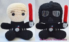My little pink ♥ world: Darth Vader to Crochet: Patterns in Spanish and English / Spanish and Inglés Pattern
