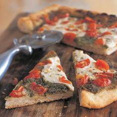 Pesto and Cherry Tomato Pizza