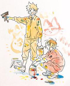 Haikyuu - Back Haikyuu Manga, Haikyuu Fanart, Anime Manga, Anime Art, Haikyuu Volleyball, Volleyball Anime, Kenma Kozume, Kagehina, Hinata