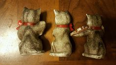 Jsny Taiwan Cat Figurines with Musical Instruments Lot of 3 | eBay