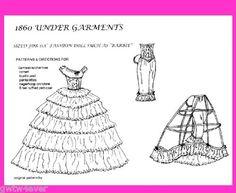 Barbie Scarlett O'Hara's 1860 Underwear Pattern Set Gone with The Wind | eBay