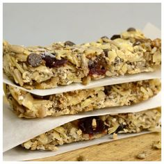 Cereal Bars, Oat Bars, Health Fitness, Healthy Eating, Low Carb, Bread, Cooking, Breakfast, Ethnic Recipes