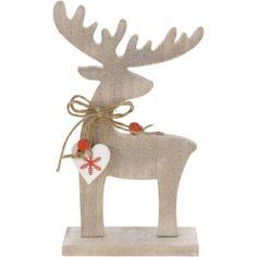 dodatki - dekoracje - anioły i figurki-Renifer z sercem L