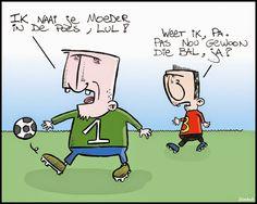 CARTOONS EN ILLUSTRATIES: Cartoon: voetbalvaders