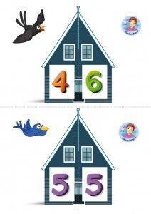 * Vrienden van 10! Twee halve huizen aan elkaar, is precies 10 bij elkaar! 3-6