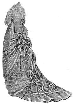 1876 Grosgrain Bridal Toilette Pattern