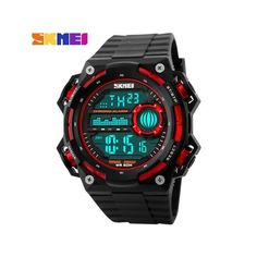 2018 luxury top brand man military watches chronograph men watches chime alarm waterproof electronic clock for men digital watch