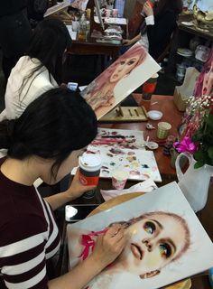 #ednakannan #latinartist #latina #mujerlatina #artistalatina #masterclass #privateseminar #seminar #stage #porcelainestage #handpainted #latinwoman #100xtoMexicano #amorypaz #artistamexicana #art #painting #realism #porcelain #porcelainportrait #porcelaine