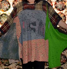 Size L to Plus Recycled sweater shirt tunic by LeelaCouture