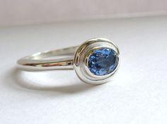 Simple Oval Tanzanite Ring.