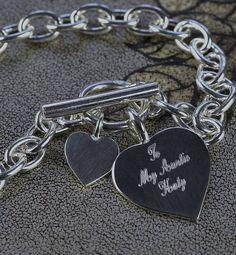 Solid Silver Heart Bracelet