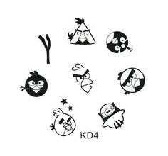 Nail Art Stamping Image Plate KD4  I am going to be buying some nail plates soon. I want an Angry Birds one!