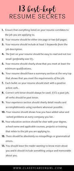 Quint Careers Resume Tips Resume Tips Pinterest Resume builder - e resume builder