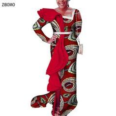 1e2656973b5a3 African clothing women dress Nigerian wedding party dress wax fabric maxi  plus big size dashiki ankara
