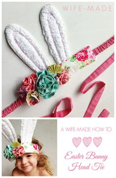wife-made: A Wife-made How To | Scrappy Easter Bunny Head Tie