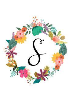 Monogram Love Quotes Wallpaper, Wallpaper Backgrounds, Iphone Wallpaper, Monogram Wallpaper, Madhubani Art, Floral Letters, Pretty Wallpapers, Letter Art, Art Background