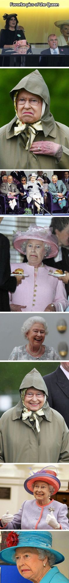 The best pictures of the Queen… I lost it several times <--- is it just me or is she an elderly Effie...?