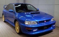One of the three existing Subaru Impreza prototypes is currently for sale, with just 55 kilometers on the digital odometer. Subaru Impreza Sti, Wrx Sti, Subaru Rally, Rally Car, Japanese Sports Cars, Performance Cars, Jdm Cars, Used Cars, Race Cars