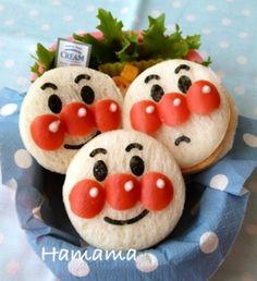 アンパンマンサンドイッチ♡キャラ弁 by *Haママ*|簡単作り方/料理検索の楽天レシピ